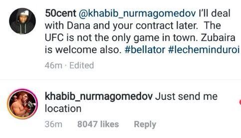 50 Cent позвал Хабиба на поединок в США: что ответил боец