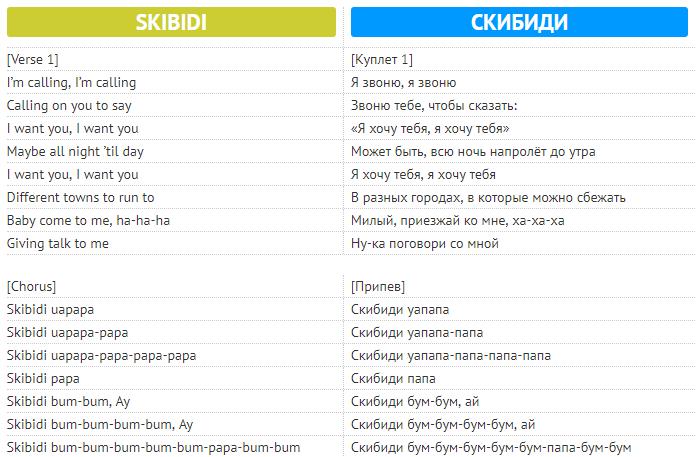 SKIBIDI: текст песни, перевод и зажигательный танец от LITTLE BIG