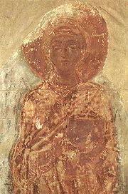 Свята Текля (фреска Спасо-Преображенського собору в Чернігові, XI століття)