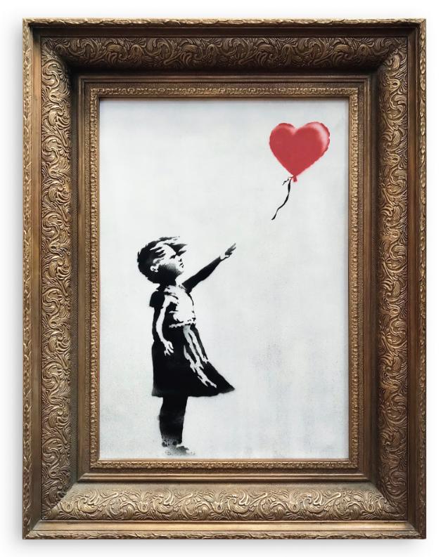 """""""Девочка с воздушным шаром"""": что сейчас со скандальной картиной Бэнкси, фото"""