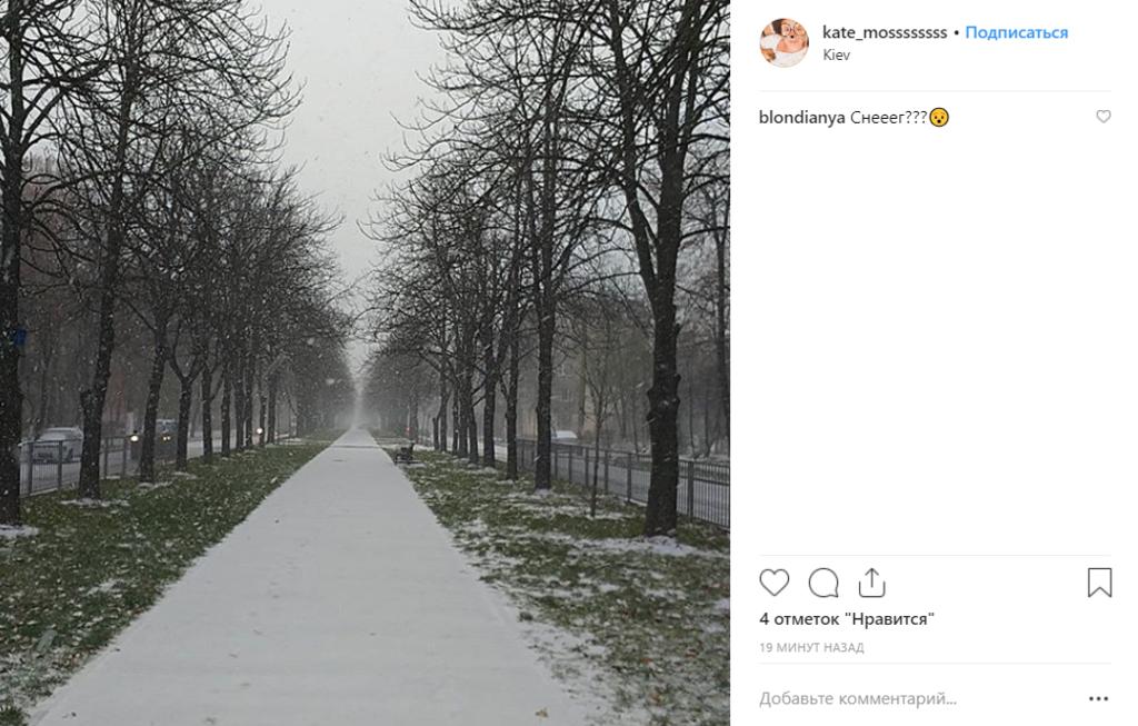 Первый снег в Киеве: восторженные горожане публикуют фото и видео