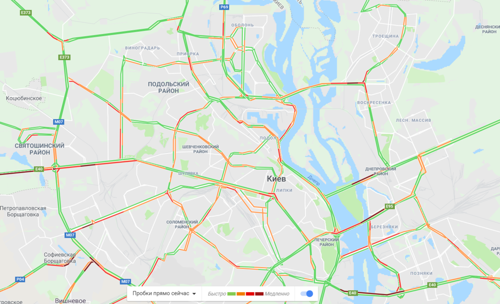 Засніжений Київ загруз в заторах: що відбувається на дорогах
