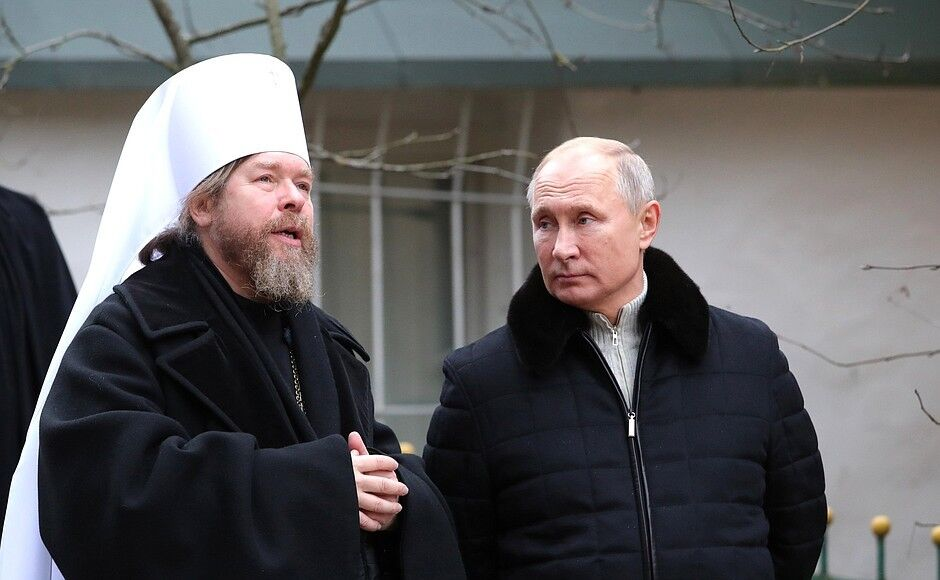 Владимир Путин, митрополит Тихон (Шевкунов)