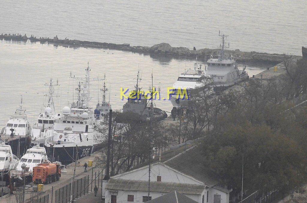 """З'явилося відео з затриманими кораблями """"Бердянськ"""", """"Нікополь"""" і """"Яни Капу"""" в Криму"""