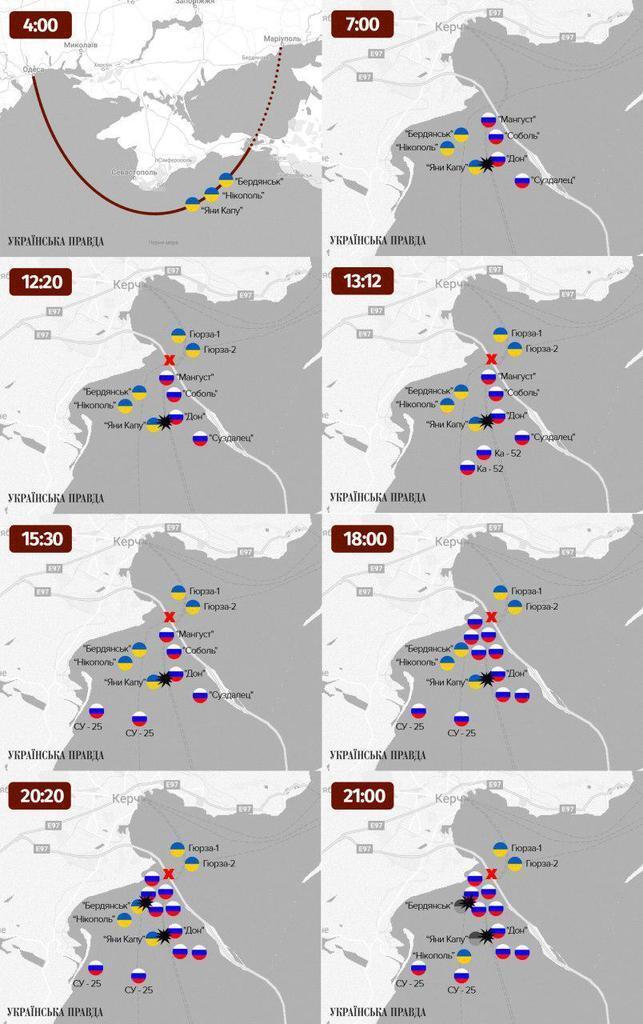 """Як пройшло захоплення кораблів """"Яни Капу"""", """"Нікополь"""" і """"Бердянськ"""": хронологія і карти"""