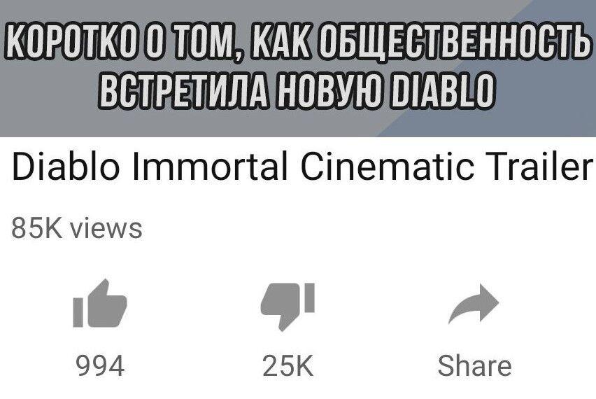 Чем разозлил Diablo: Immortal