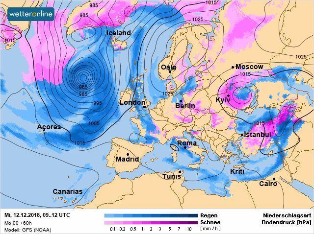 Циклон охватит большую часть Украины: где в ближайшие дни пройдет сильный шторм