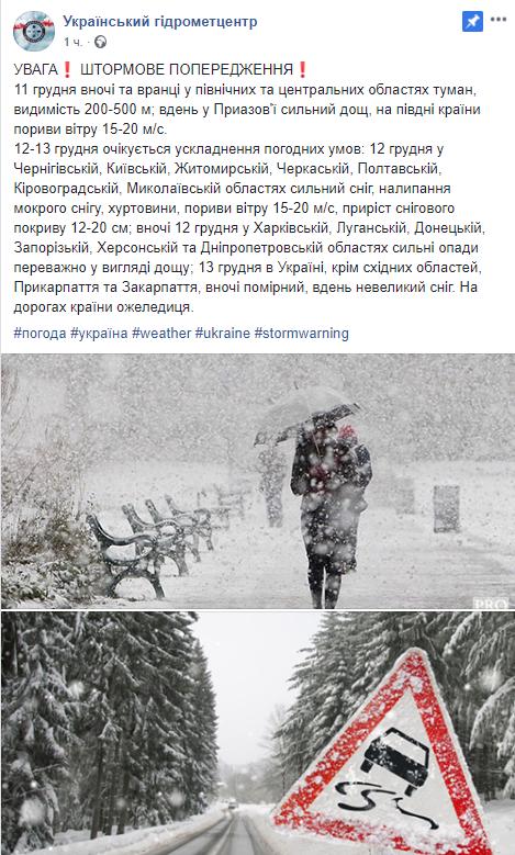 Циклон охопить більшу частину України: де в найближчі дні пройде сильний шторм