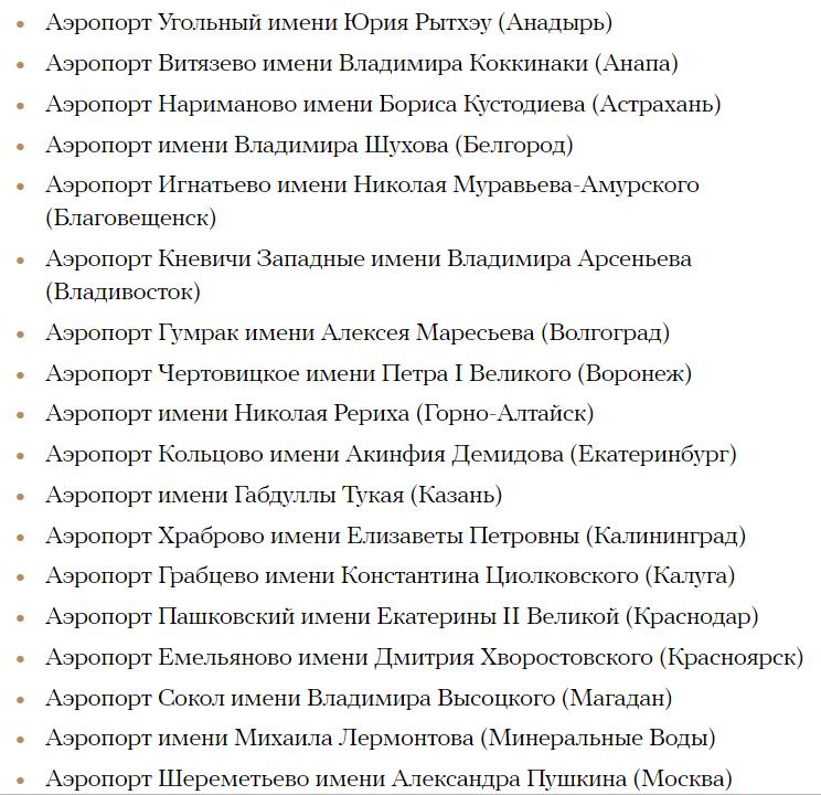 Княгиня Ольга, Маресьєв, Демідов і Карбишев. Чим імена аеропортів в Росії потрясли мережу