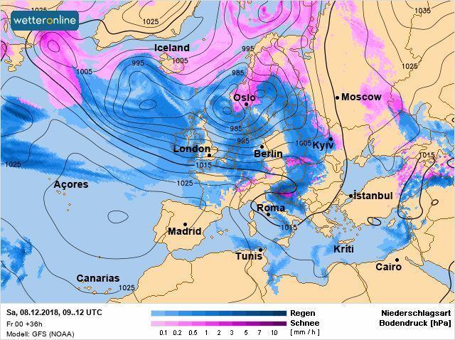 Циклон Marielou: прогноз погоди на вихідні 8-9 грудня