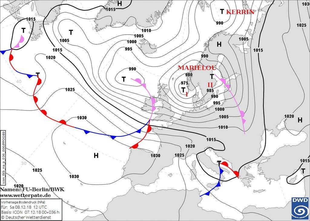 Циклон Marielou: прогноз погоды на выходные 8-9 декабря