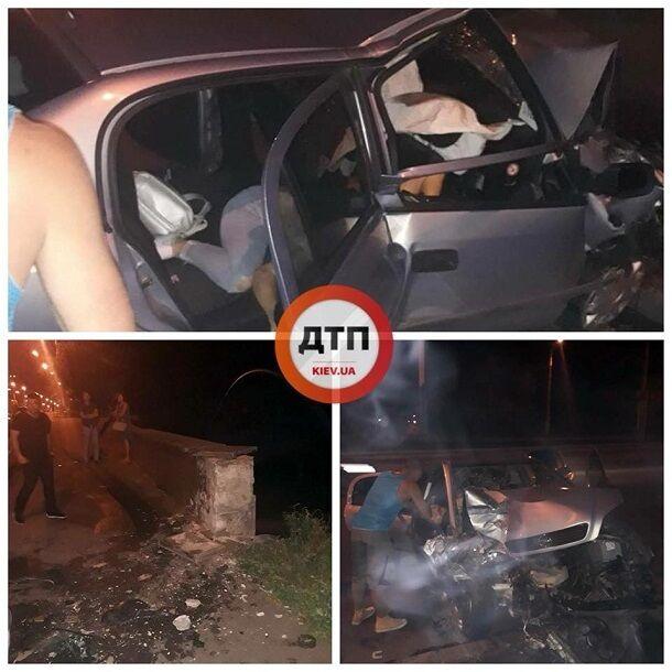 Смертельна аварія в Києві: з'явилися моторошні фото перших хвилин після трагедії