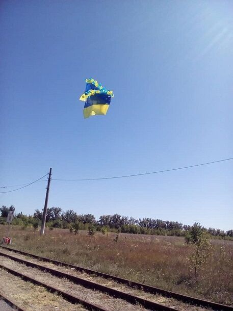 В Донецке провели яркую проукраинскую акцию: фото