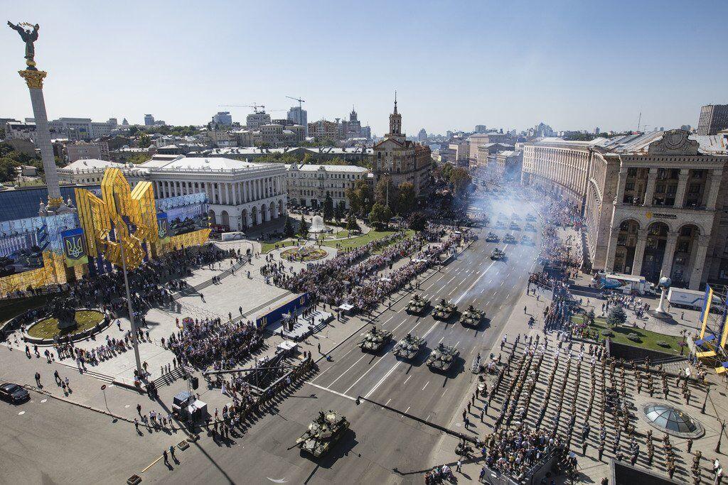 Военный парад по случаю 27-й годовщины независимости Украины