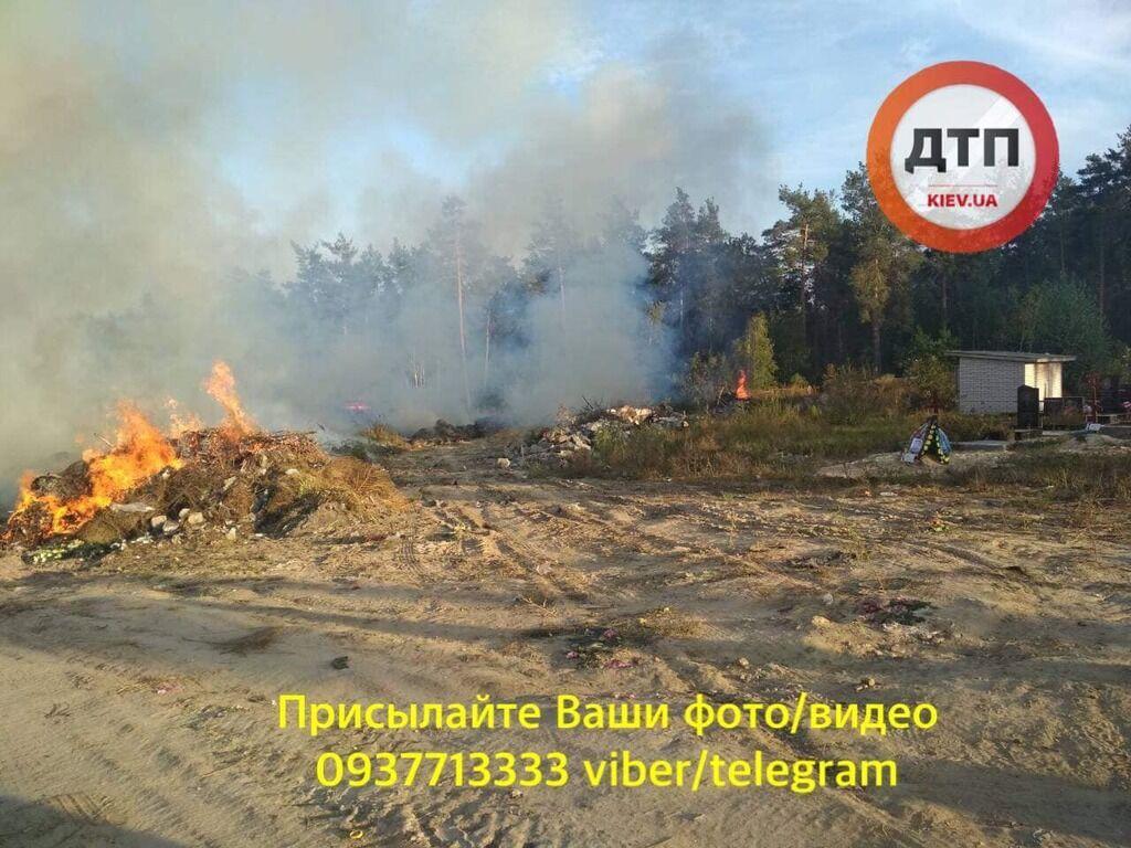 В Киеве весь день горят свалки: фото и видео мощных пожаров