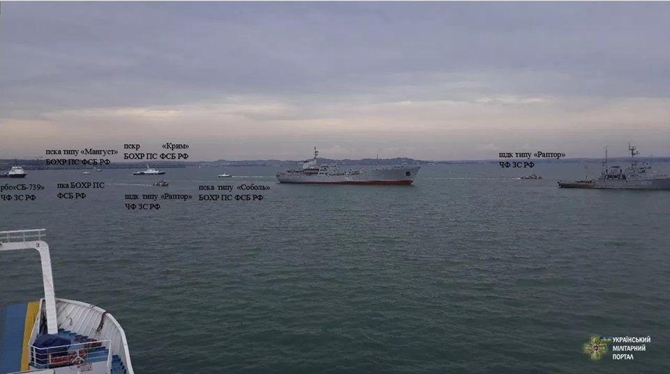 """Прохід суден """"Донбас"""" і """"Корець"""" під Кримським мостом: в мережі показали, як злякалася Росія"""
