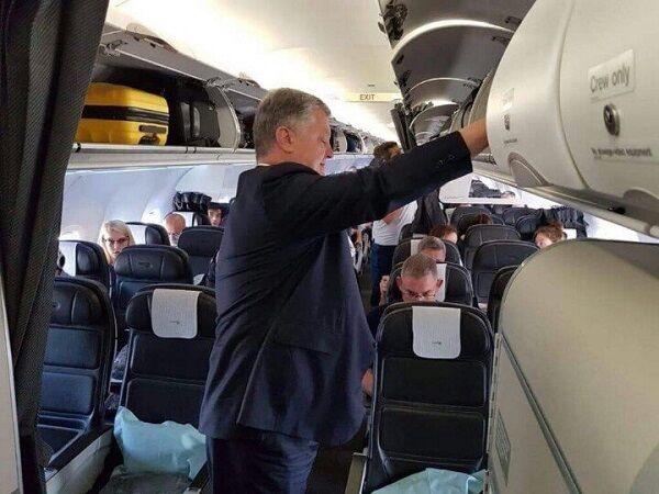 В фото с Порошенко в самолете заподозрили неладное