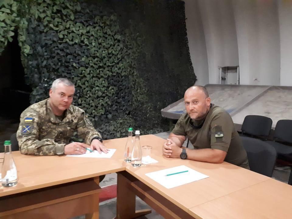 Дмитрий Ярош и Сергей Наев обсудили вопросы участия добровольческих подразделений в ООС