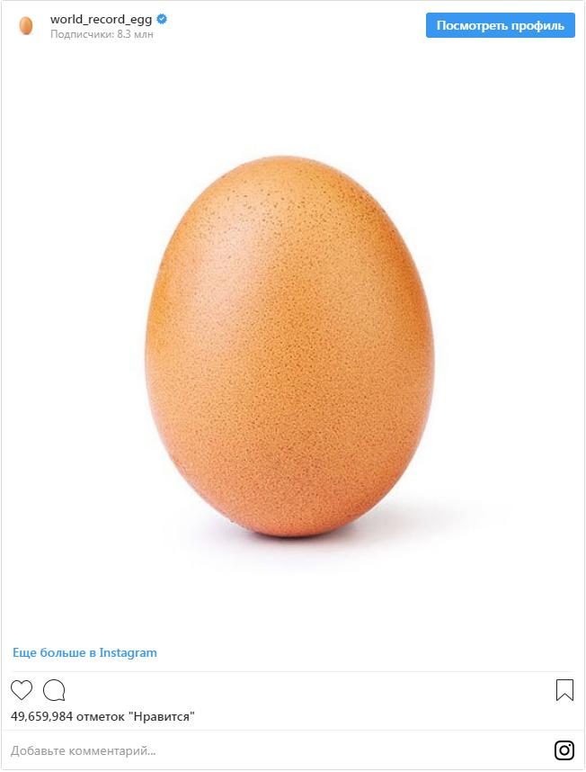 Яйцо в интернете бьет рекорды по лайкам: что происходит