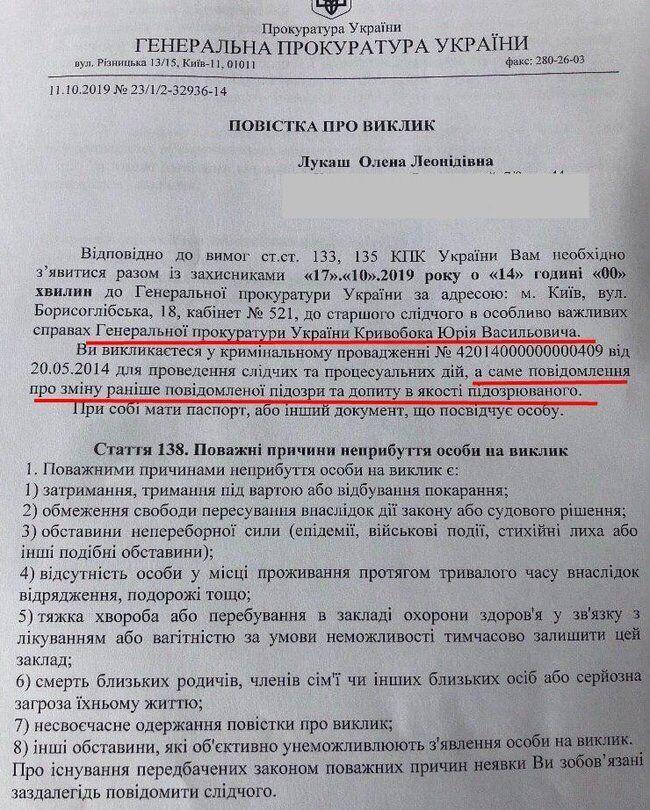 """""""Рябошапка горить"""": справа проти Лукаш підірвала прихильників Зеленського"""