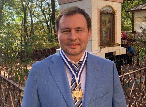 Вадим Кисель удостоен ордена УПЦ святого апостола Андрея Первозванного