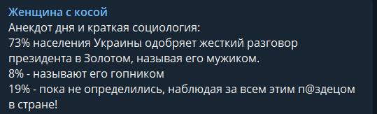 """""""П@здец в стране!"""" Опрос показал отношение украинцев к выходке Зеленского в Золотом"""