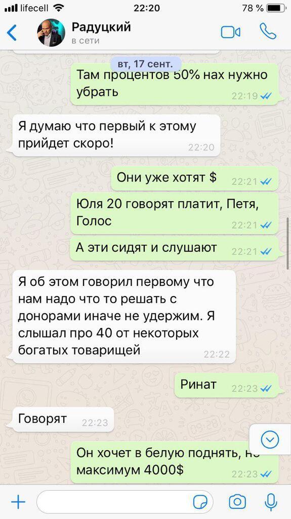 """""""Слуга народу"""" Михайло Радуцький злив пранкерам багато цікавого: з'явилося листування"""