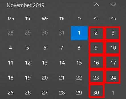 Вихідні в листопаді 2019 Україні: коли відпочиваємо