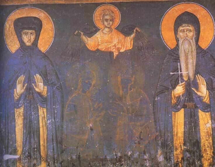 Олена і її син Стефан Урош II Мілутін
