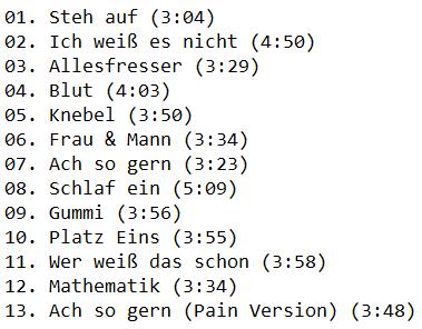 Frau und Mann, F & M: слушать онлайн и скачать через торрент новый альбом Lindemann