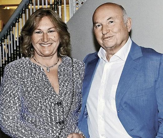 Олена Батурина і Юрій Лужков