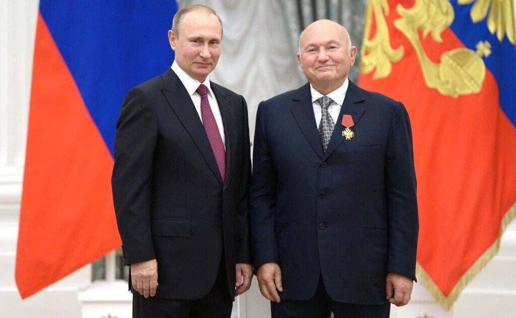 Володимир Путін і Юрій Лужков