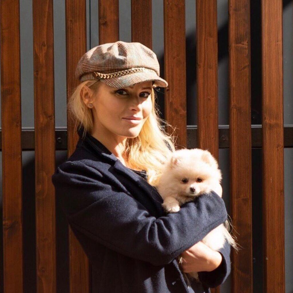 Дана Борисова с собакой
