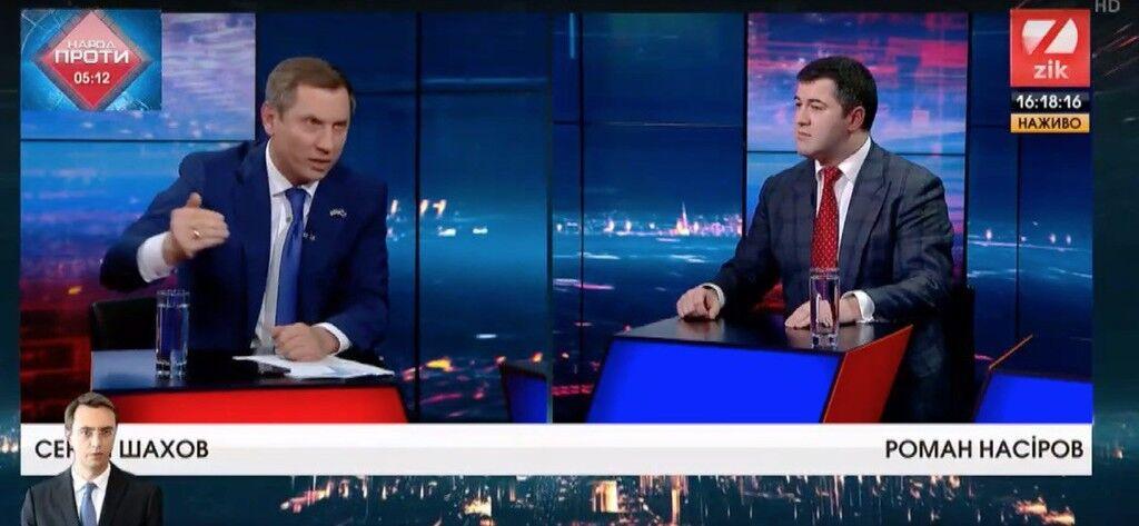 """Нардеп от """"Воли народа"""" облил кандидата в президенты водой в прямом эфире"""