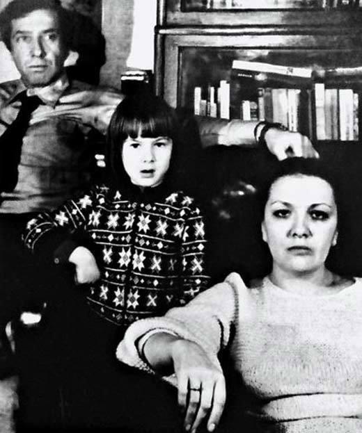 Дарія Юрська в дитинстві з батьками