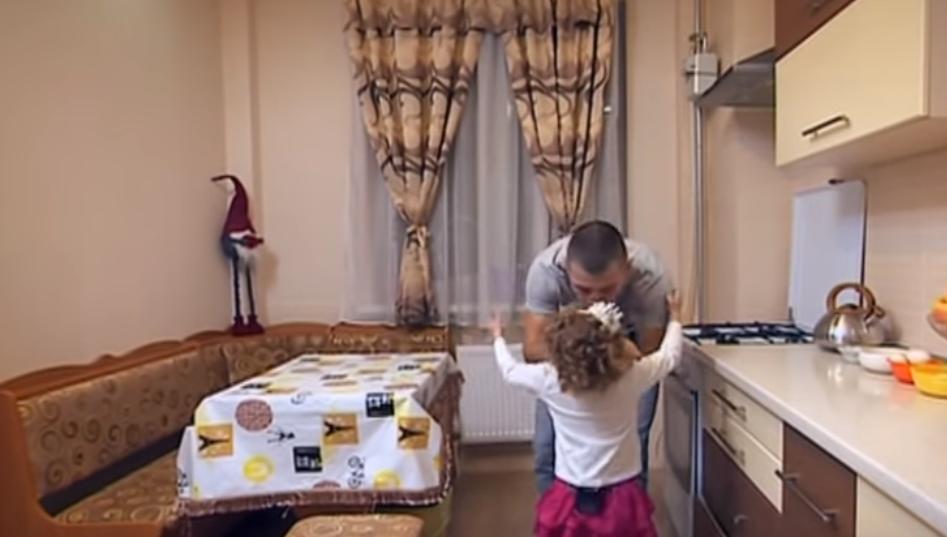 Дмитрий Касап с дочерью