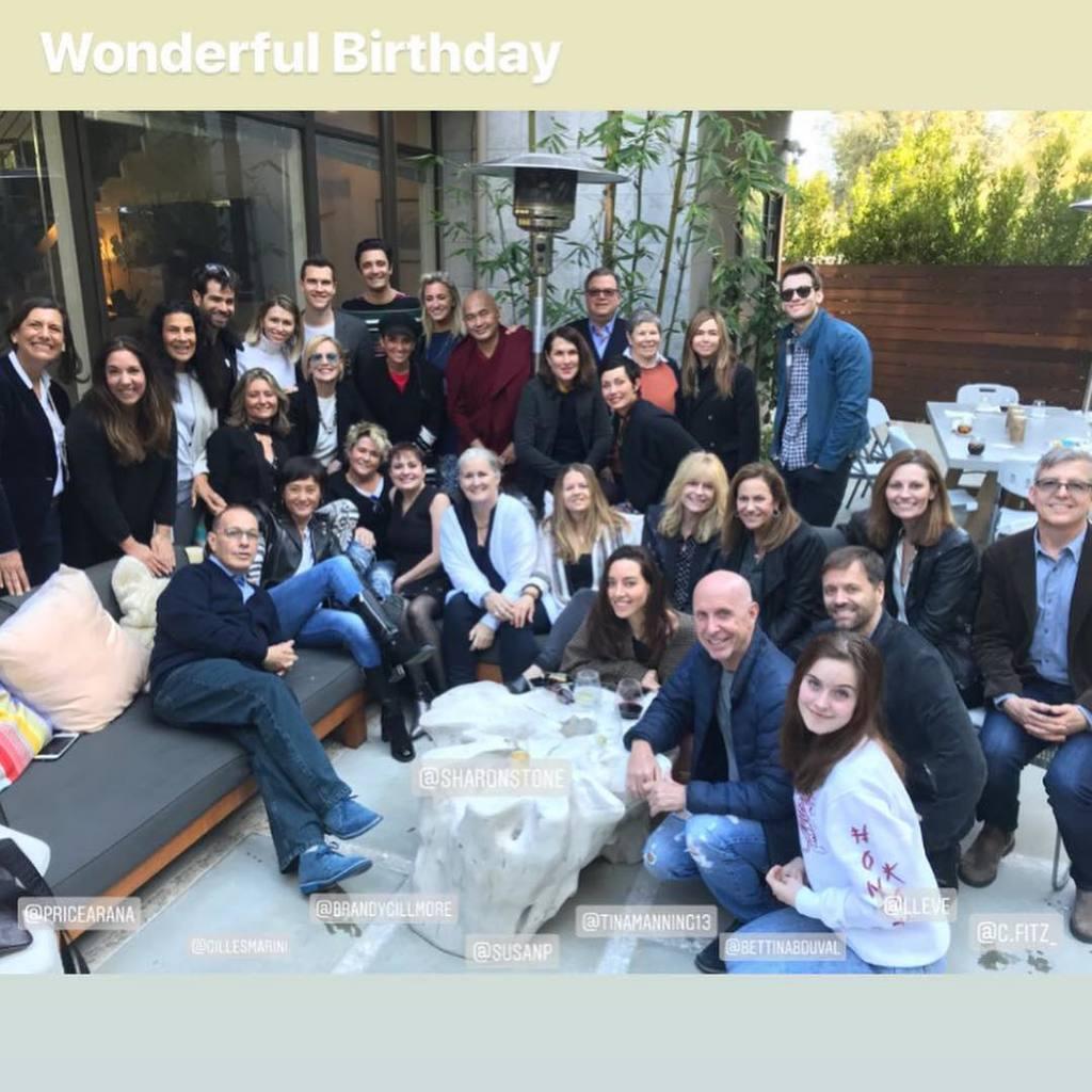 Шерон Стоун показала, як відгуляла день народження, фото