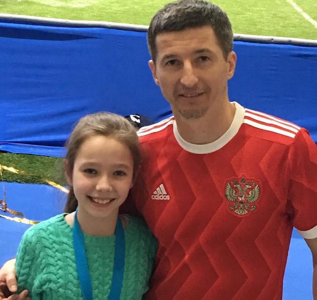 Євген Алдонін з донькою Вірою