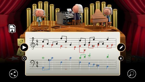 Йоганн Себастьян Бах: як грати в новий дудл Google, відео