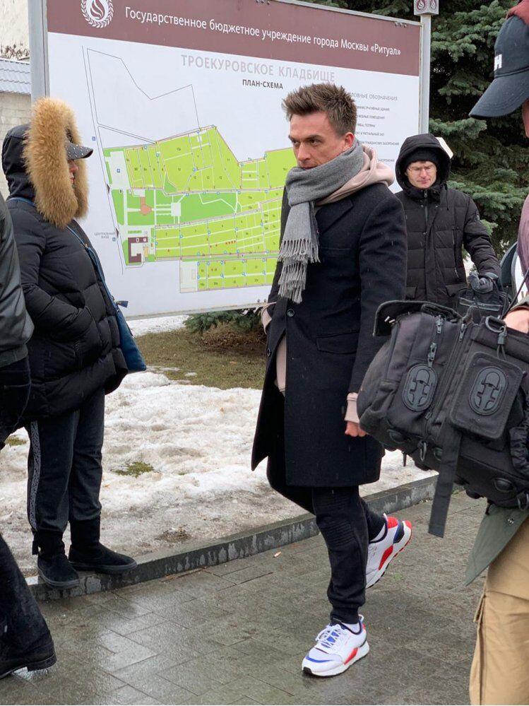Влад Топалов на похоронах Юлии Началовой