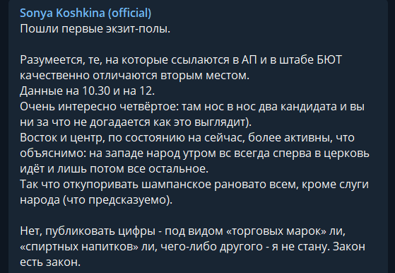 Экзитполы на выборы президента Украины показали интересное