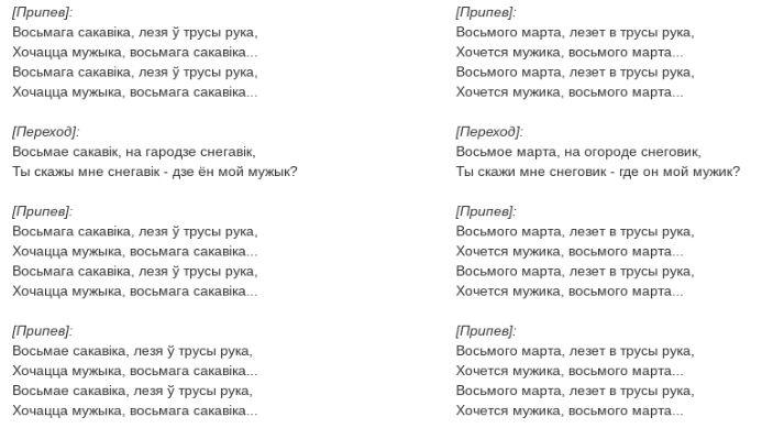 """""""8 Сакавіка. Лізе в труси рука"""": текст та переклад хіта """"Ленінграда"""" """"8 березня"""""""