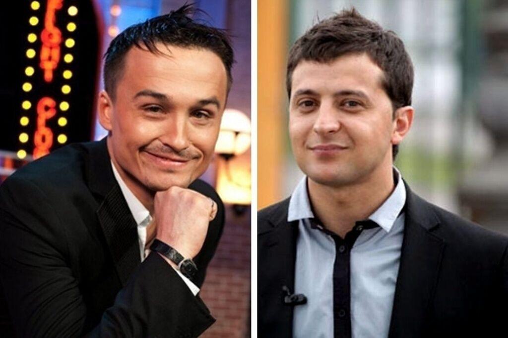 Денис Манжосов і Володимир Зеленський