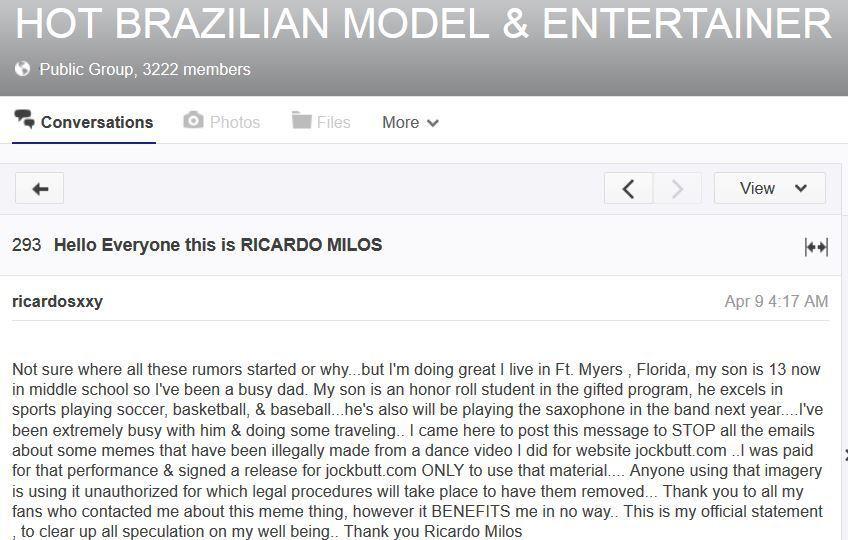 Рікардо Мілос погрожуэ зачистити мережу від мемів про нього