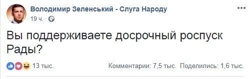Розпуск Ради президентом Зеленським – фейк: в штабі політика зробили заяву