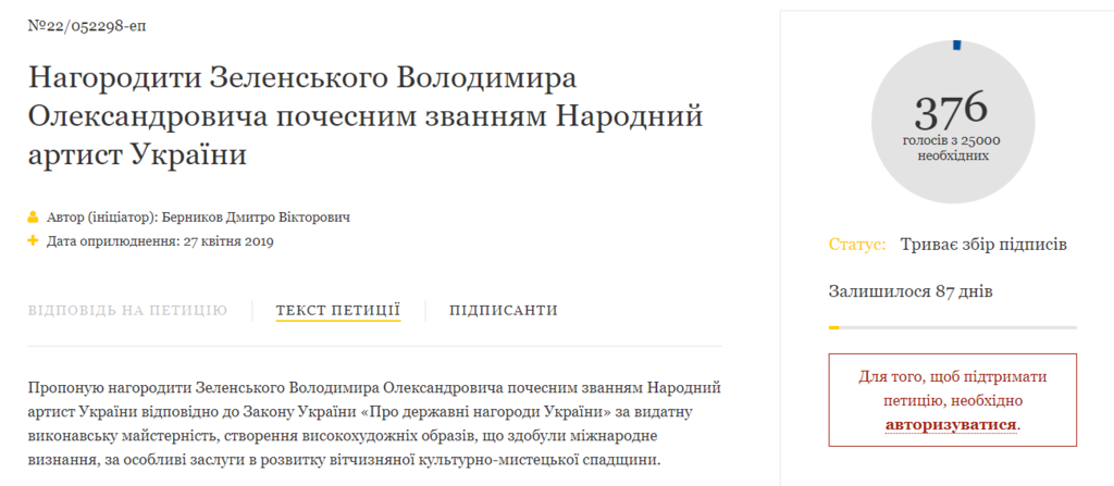 """Больше не """"актеришка"""" и """"клоун"""": инициатива по Зеленскому вызвала недоумение"""