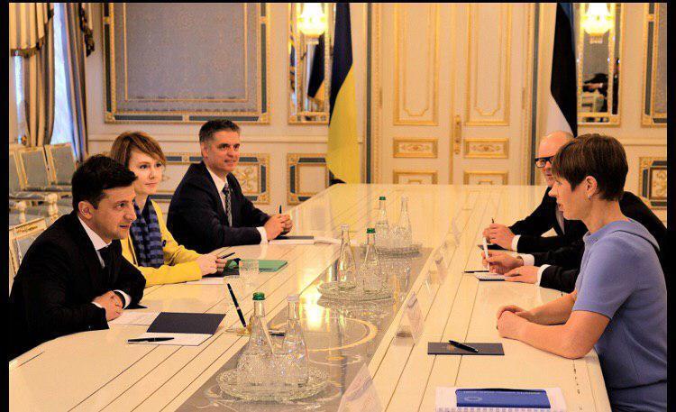 Вадим Пристайко на зустрічі Володимира Зеленського з президентом Естонії Керсті Кальюлайд