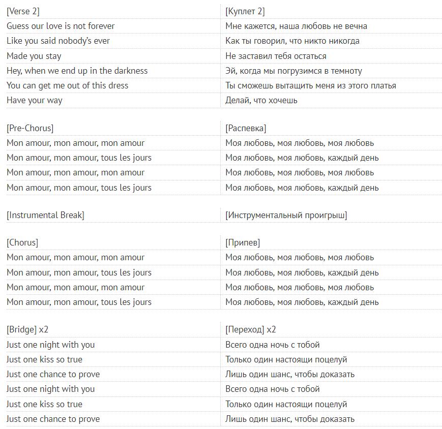 Mon Amour: перевод трека Mosimann & MARUV, скачать песню онлайн