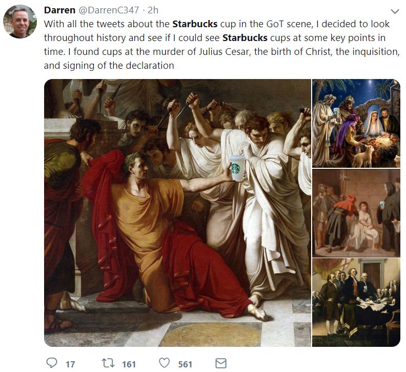 Стаканчик Starbucks Дейенерис породил повальные мемы. Фото и видео
