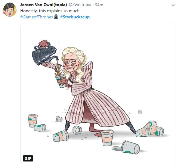 Стаканчик Starbucks Дейенеріс породив повальні меми. Фото і відео